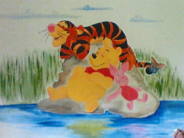 winnie pooh wandbild kinder fototapete poster winnie pooh. Black Bedroom Furniture Sets. Home Design Ideas